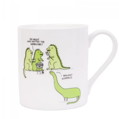 herbivore mug, dinosaurs round the BBQ by Gemma Correll for Ohh Deer