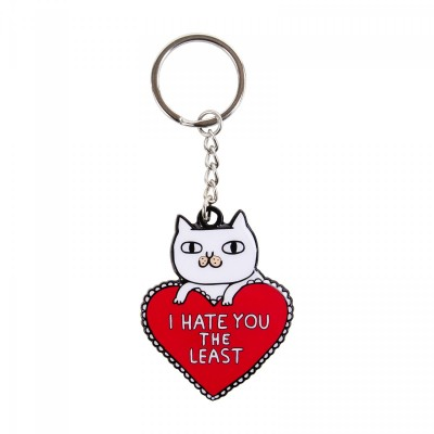 I Hate You the Least Key Ring