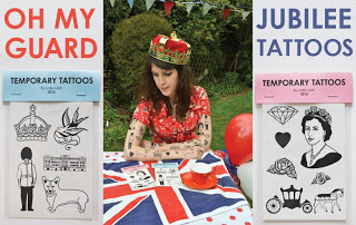 Oh My Guard…. #Jubilee Temporary Tattoos £3.50 and Queen Liz Jelly Moulds £10 from @lydialeith? NOW I've seen everything!