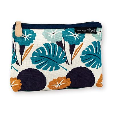 Gorgeous screen printed jungle theme make up pouch, all sent for the sunnier months ahead with this gorgeous pouch by Atomic Soda