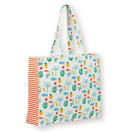 beach tote by atomic soda in Jungle Toucan Screen Print