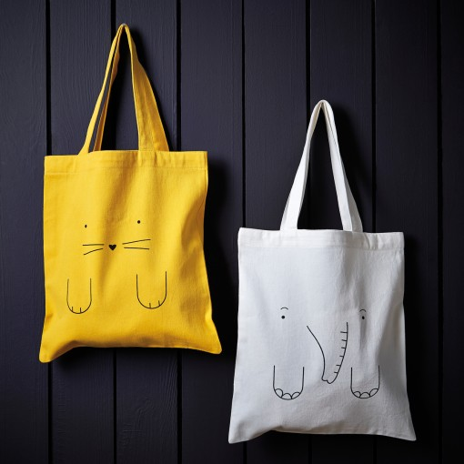 tote bag, banjo, cute animal totes