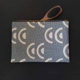 Mid Century Inspired Screen Printed Pouches by Ding ding