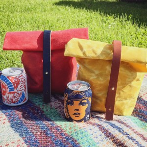 lunch bag, soda kitsch, outdoors, picnics