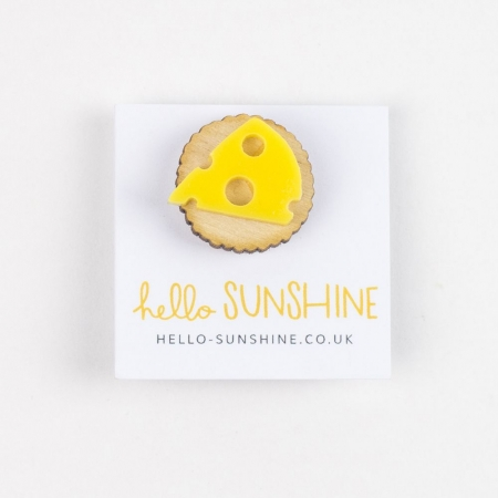 Cheese & Biscuits Lapel Pin