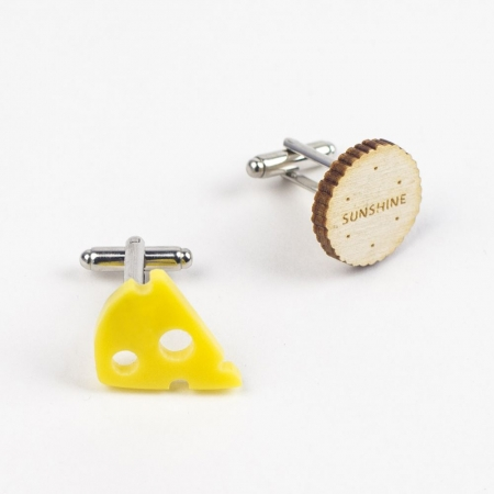 Cheese and Biscuits Cufflinks