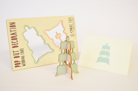 Pop Out Wedding Cake Card