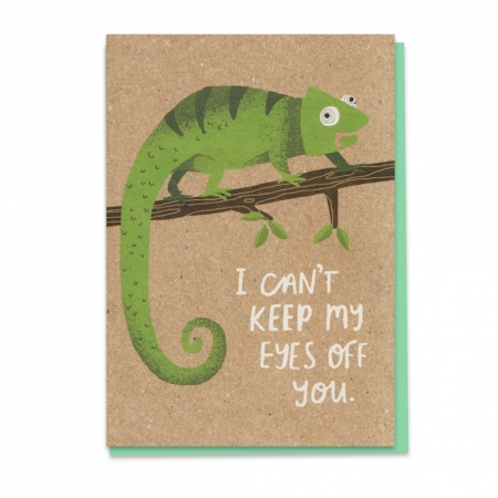 Staring Cameleon Card
