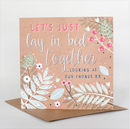 In Bed Together Card