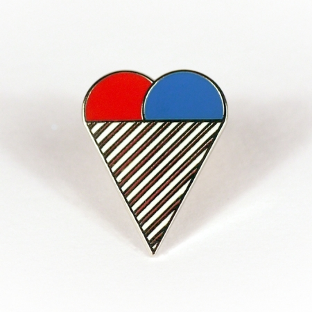 Ice-Cream Heart Enamel Pin Badge
