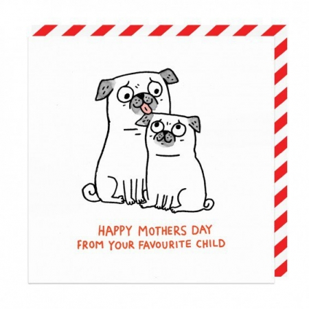 Happy Mother's Day Pug Card