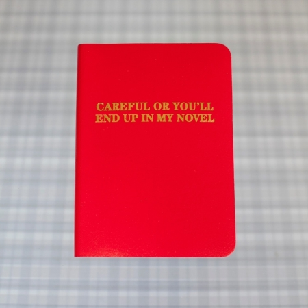 Careful Or You'll End Up In My Novel! - Journal in 2 colours