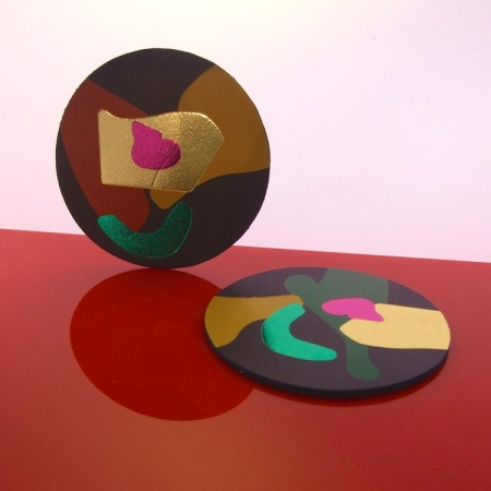 Abstract Brooch - Various Colours