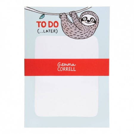 Sloth To Do Notepad