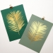 Areca_leaf gold print on various green papers