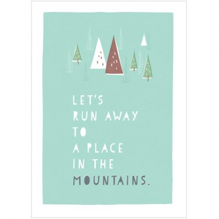 A Place In The Mountains A4 Print