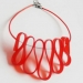 Red Choker Necklace 2 by and lolita at the red door gallery