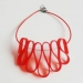 Red Choker Necklace by and lolita at the red door gallery