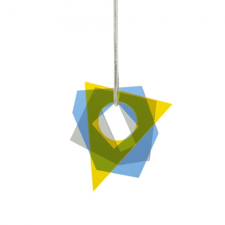 Small Layer Pendant - Blue and Yellow