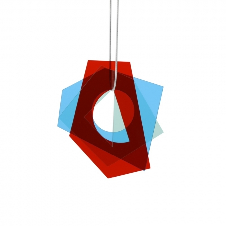 Large Layer Pendant - Blue and Red
