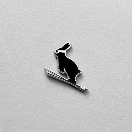 Ski Jumping Enamel Pin