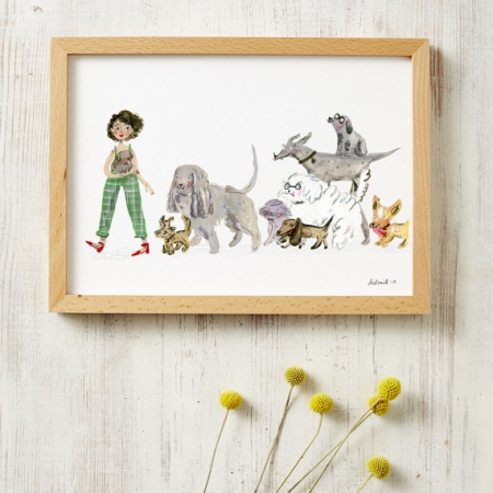 Dog Lovers A4 Print