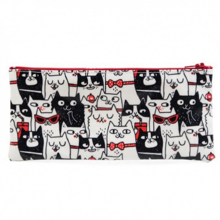Cat Crowd Pencil Case