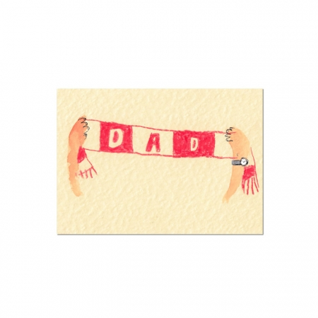 Dad Scarf Card