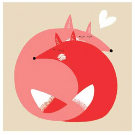 Square Love Foxes