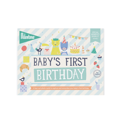 milestone baby's first birthday as packaged