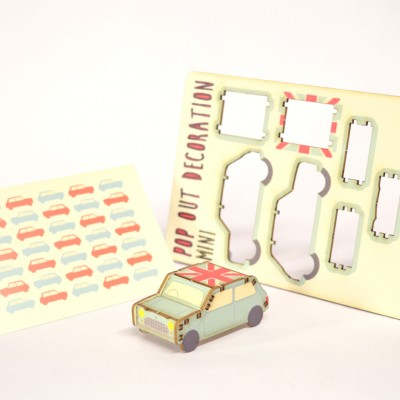 mini car by Pop Out Cards