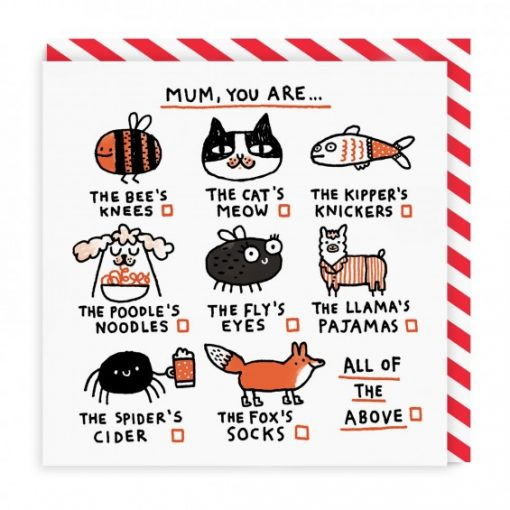 Mum You Are The Bees Knees Card