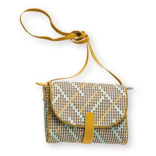 cute canvas cross body bag, screen printed in beautiful graphic prints with bright contrasting details by Atomic Soda