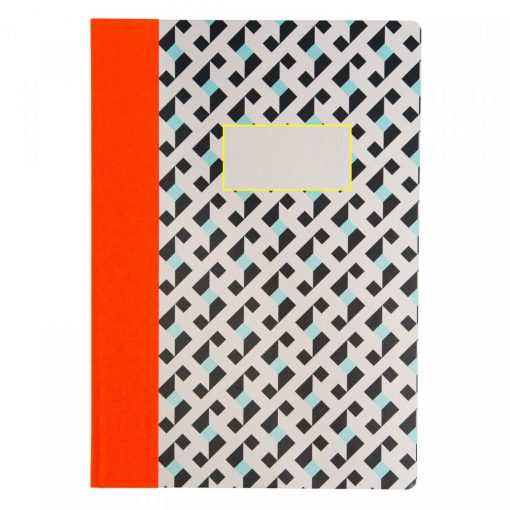 Optical Geo A4 Quarterbound Notebook by Ohh Deer