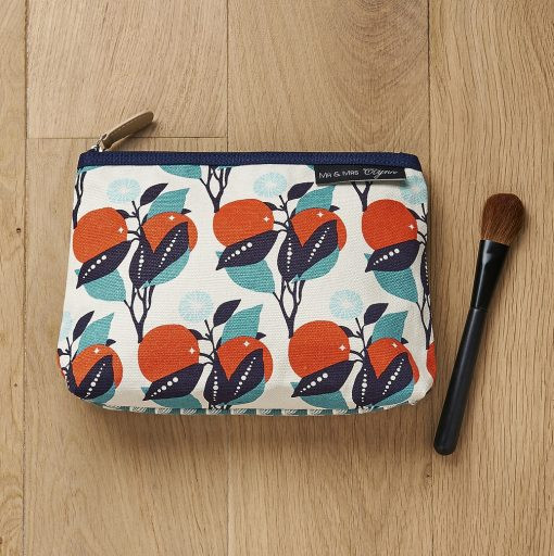 Gorgeous screen printed orange tree theme make up pouch, all sent for the sunnier months ahead with this gorgeous pouch by Atomic Soda