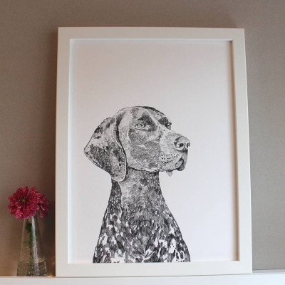 original_bert-the-german-pointer-dog-print