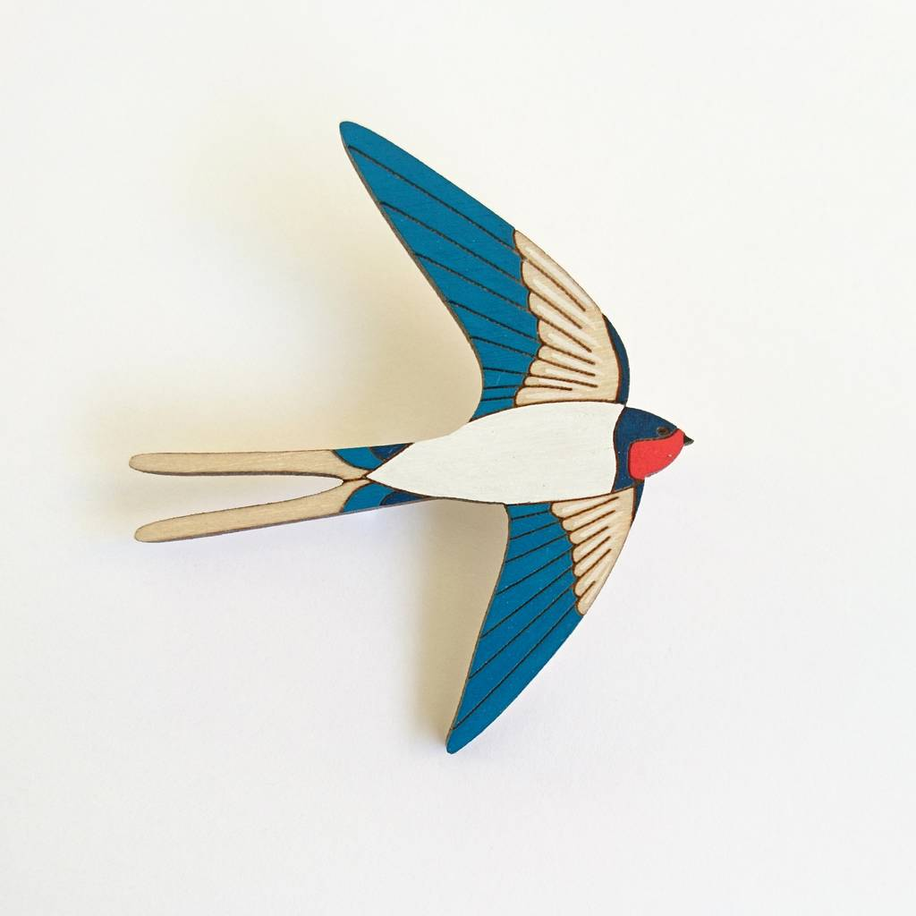 Swallow Brooch by Twiggd