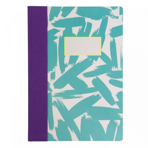 Bold Brush A4 Quarter Bound Notebook by Ohh Deer