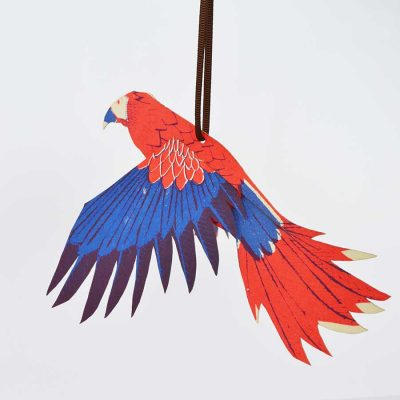 parrot, bird, tropical, hanging card