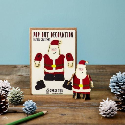 santa card by the pop out card company