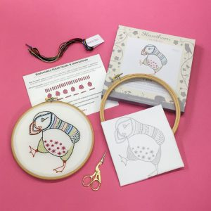 Comtemporary Embroidery Kits by Hawthorn Handmade - Available at The Red Door Gallery
