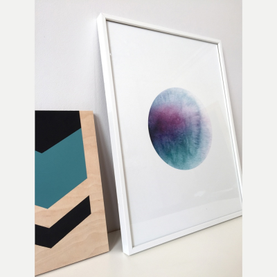 dot, watercolour, giclee print, lindstrom effect
