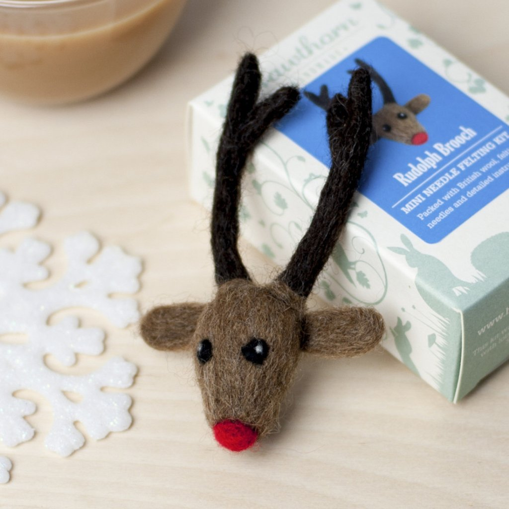 Rudolph Christmas Bauble by Hawthorn Handmade for Crafternoon Fun