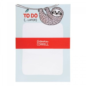 sloth, note pad, ohh deer, gemma correll