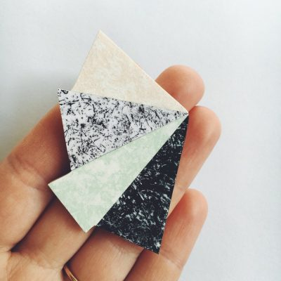 speckled shard brooch