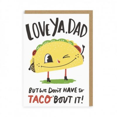 taco dad card at the red door gallery