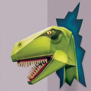 t-rex, dinosaur, t-rex head, tyranasaurus rex, clock work soldier, diy, cut out and make