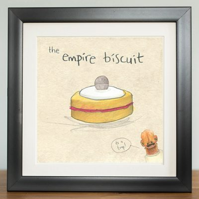 the empire biscuit deathstar admiral akbar its a trap digital print by The Grey Earl, Stars are Braw, Star Wars