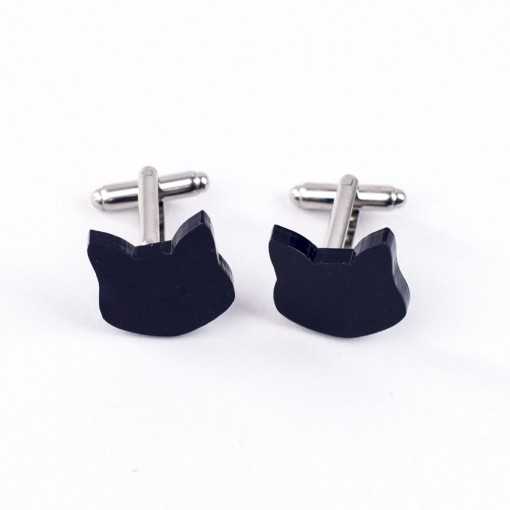Toby Cat Cufflinks by Hello Sunshine