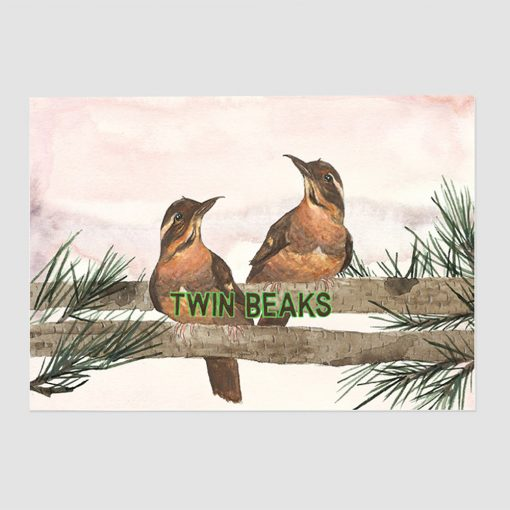 Twin Beaks Art Print by Mister Peebles